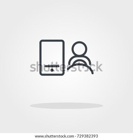 Ridesharing Phone Driver Icon