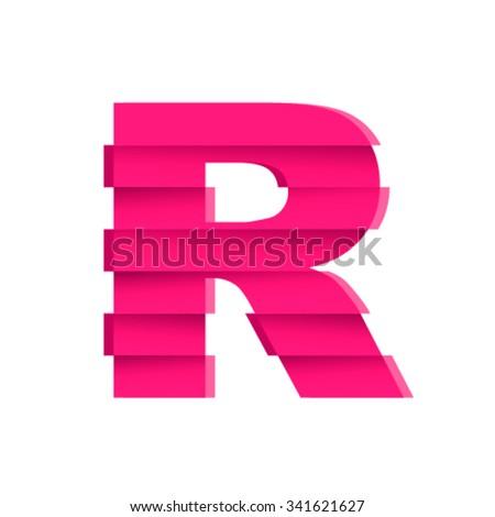 rift font  letter r