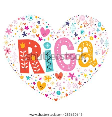 riga heart shaped type