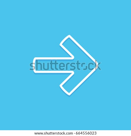 Right arrow symbol icon