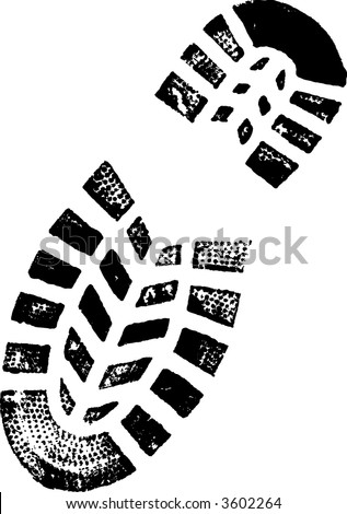 Right Foot Print (Vector image Very detailed)