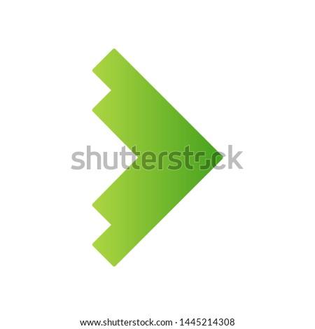 right green arrowhead flat