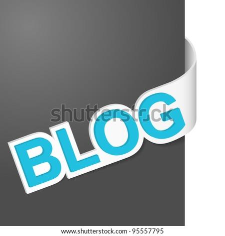 Right side sign - Blog. Vector illustration.