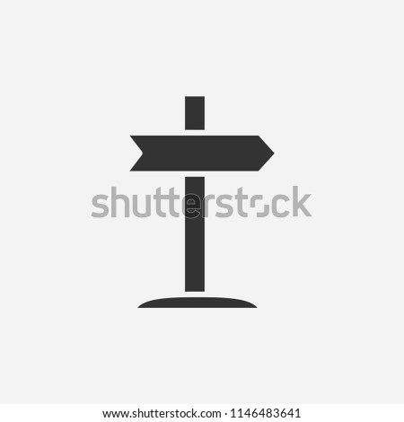 Right signpost icon illustration,vector arrow sign symbol