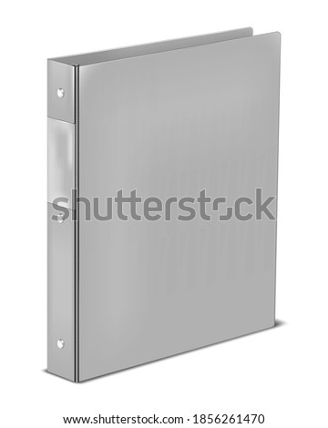 ring binder with label holding