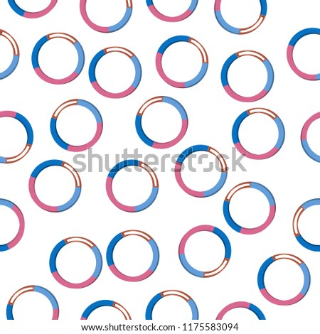 ring 3d diagramicon in pattern