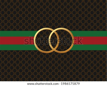 ring gold on texture background vector template