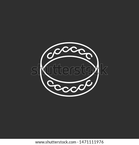 ring icon line art illustration