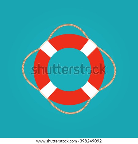 ring life buoy vector