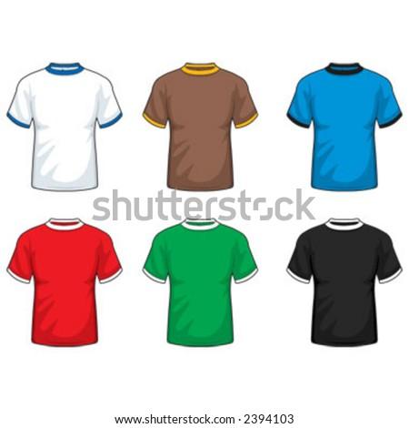 stock vector : Ringer T-shirt