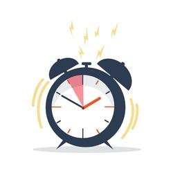 Ringing Alarm Clock with deadline concept