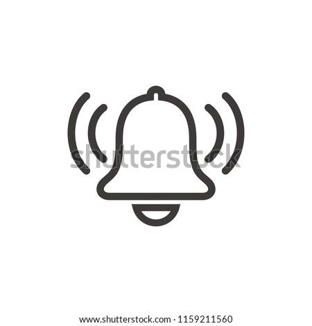 Ringing bell, alarm icon