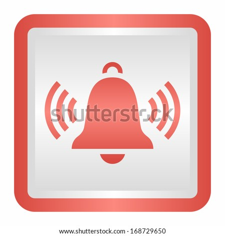 Ringing bell (elegance silver button, red version)