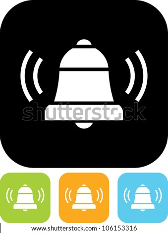 Ringing bell - Vector icon isolated