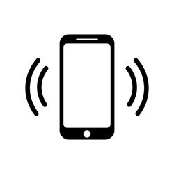 Ringing smartphone icon. Mobile phone ringing or vibrating flat icon for apps and websites