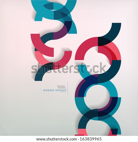 Rings geometric shapes abstract background