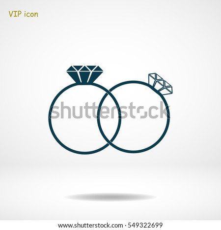 rings icon  vector best flat