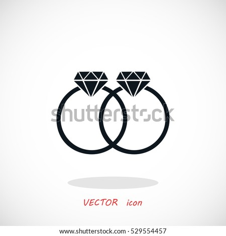 rings vector icon, flat design best vector icon