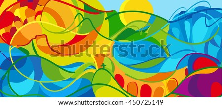 rio 2016 abstract colorful