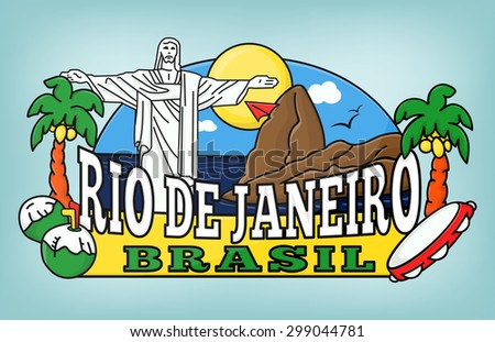 rio colorful background vector...