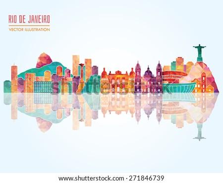 rio de janeiro detailed skyline