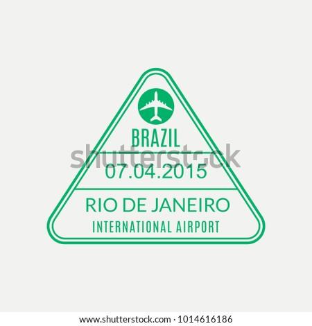 rio de janeiro passport stamp