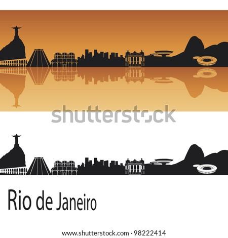 rio de janeiro skyline in