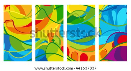 rio 2016 set of colorful