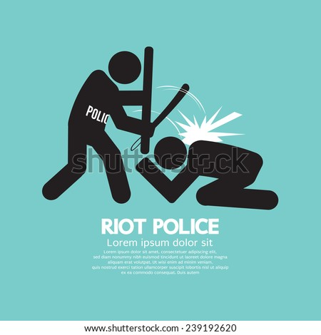 riot police black symbol