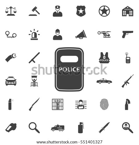 riot police icon
