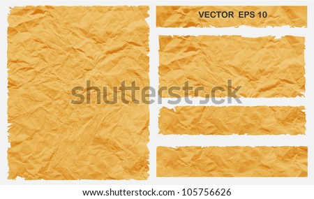 Rip Crumpled Paper Vector illustration