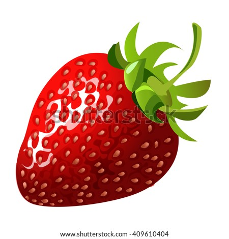 ripe berry of strawberry