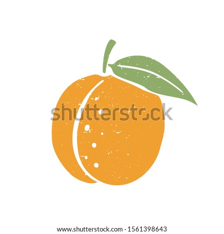 ripe colored peach symbol
