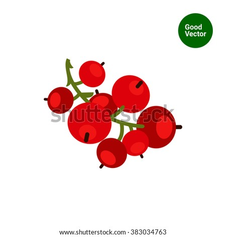 ripe red currant icon