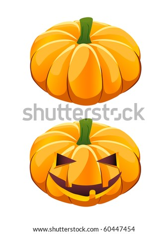 ripe vector pumpkin plus Halloween jack-o-lantern variant