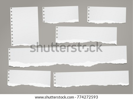 Notebook paper backgrounds download free vector art stock ripped lined notebook paper strips for text or message stuck on dark gray background altavistaventures Gallery