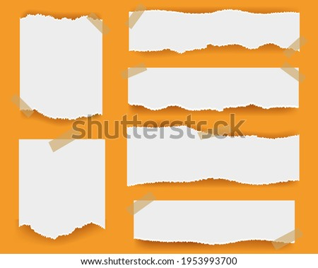 Ripped paper Isolated Orange Background With Gradient Mesh, Vector Illustration ストックフォト ©