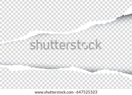 ripped paper vector on  transparent background , with space for text
