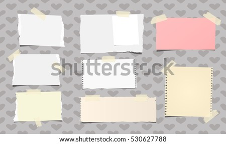 ripped white and colorful