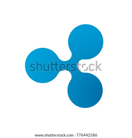 Ripple coin symbol logo. Crypto currency ripple logotype isolated on white background. Vector graphics.