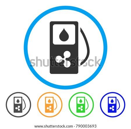 Gas Pump Circle Icons Download Free Vector Art Stock Graphics