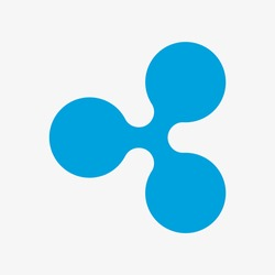 Ripple symbol. Vector illustration. XRP logo. Cryptocurrency.