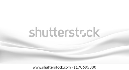 Rippled wavy milk. Beautiful background. Realistic design. Shiny silk fabric. Vector illustration.