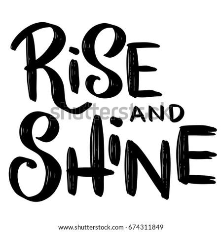 rise and shine hand drawn