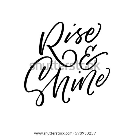 rise and shine postcard ink