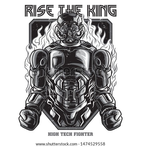 rise the king black and white