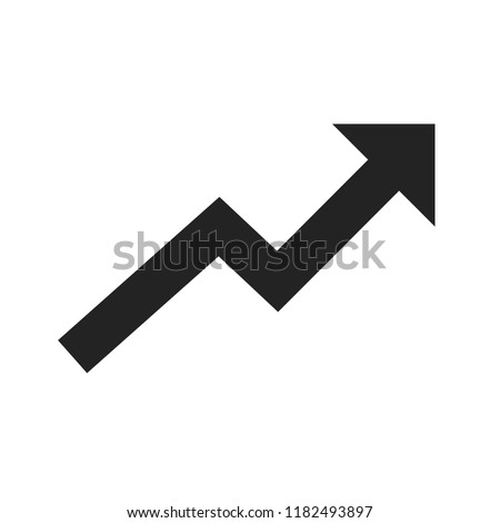 Rising up. Arrow up icon. Stock vector illustration.
