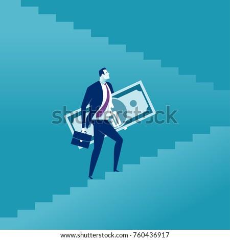 rising up businessman holding