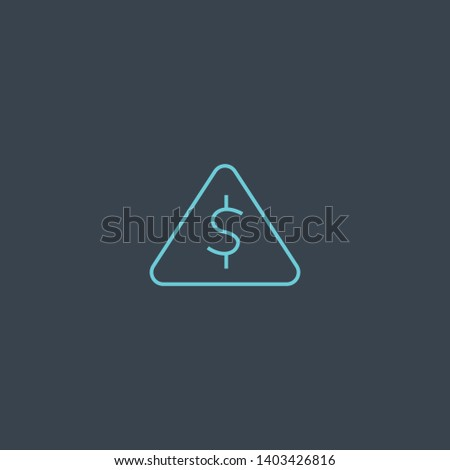 Risk Capital concept blue line icon. Simple thin element on dark background. Risk Capital concept outline symbol design. Can be used for web and mobile UI/UX