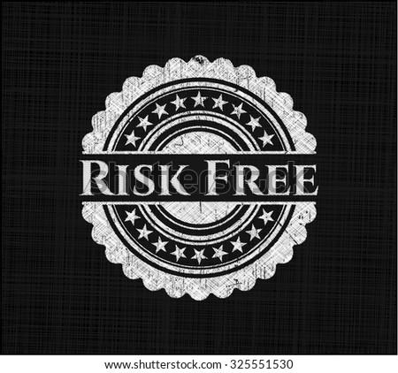 Risk Free written on a blackboard